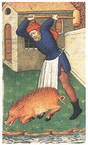 motif animaldispatching-a-boar