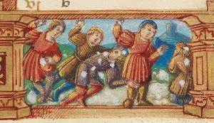 snowball-fight-utopia-armarium-codicum-bibliophilorum-cod-103-f-12-book-of-hours-of-benigne-serre-1524
